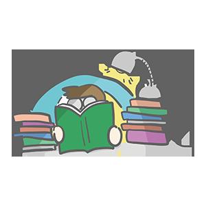 読書をする人のイラスト