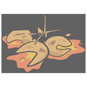 つぶれた銀杏のイラスト