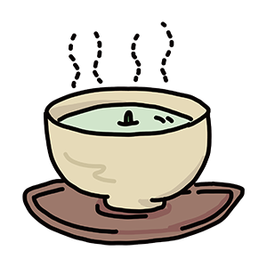 お茶碗のイラスト