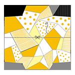 黄色いクールなポチ袋