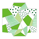 緑のクールなポチ袋