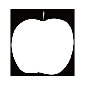 りんごのぬりえ