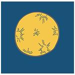 お月様のイラスト