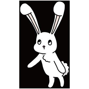 白いウサギのイラスト