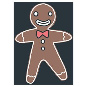 ジンジャーマンクッキーのイラスト