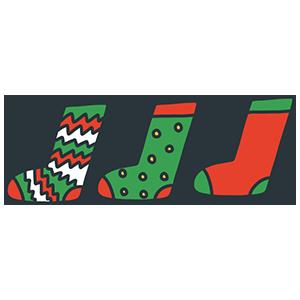 クリスマス靴下のイラスト