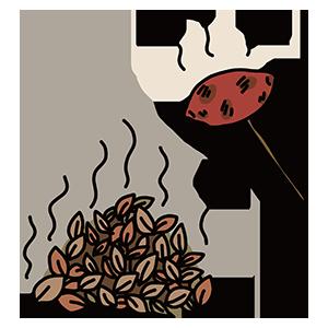 焼き芋のイラスト