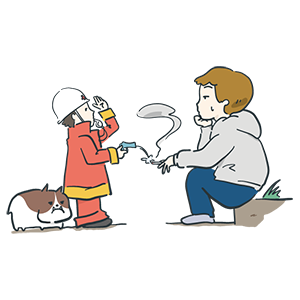 消防記念日のイラスト