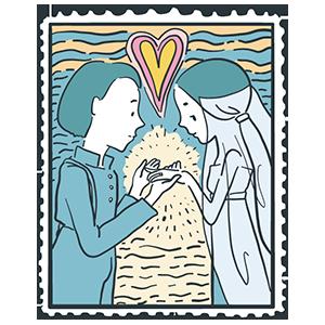 切手記念日のイラスト