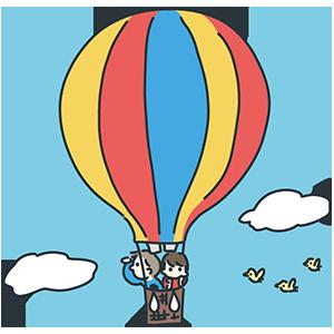 熱気球の日のイラスト