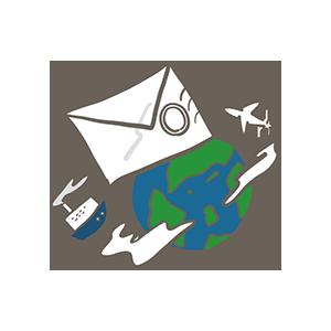 世界郵便の日のイラスト
