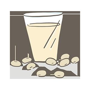 豆乳の日のイラスト
