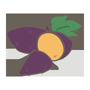 サツマイモの日のイラスト