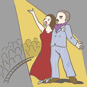 オペラ記念日のイラスト
