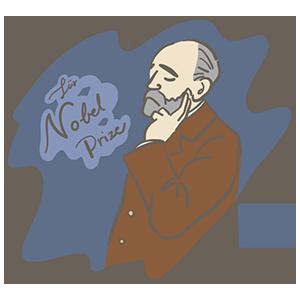 ノーベル賞制定記念日のイラスト