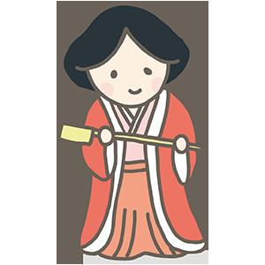 三人官女の銚子のイラスト