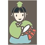 五人囃子の大鼓のアイキャッチ