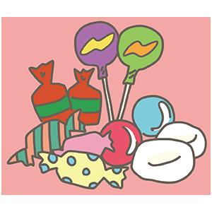 バレンタインお菓子のイラスト