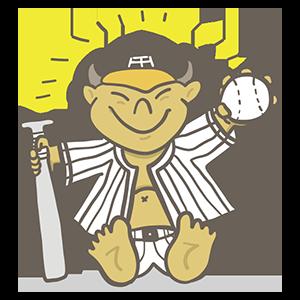 阪神タイガース記念日のイラスト