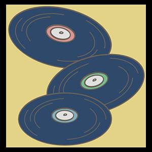 レコードの日のイラスト