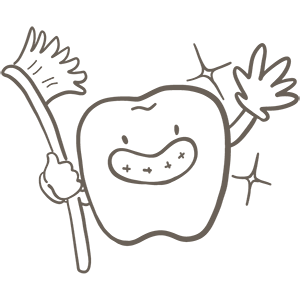 いい歯の日のぬりえ