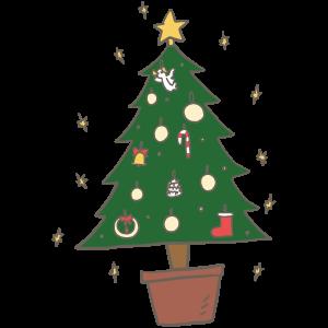 クリスマスツリーの日のイラスト