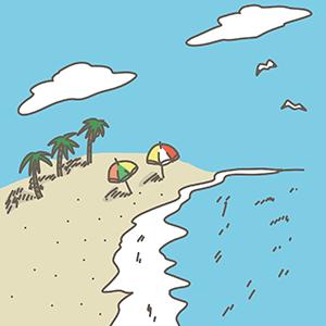 ビーチのイラスト