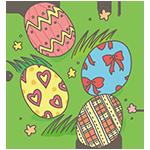 カラフルな卵のアイキャッチ