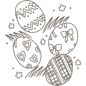 カラフルな卵のぬりえ
