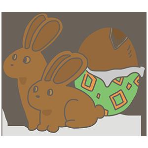 エッグチョコレートのイラスト