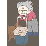 手押し車を押すおばあちゃんのアイキャッチ