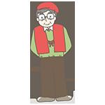 赤いちゃんちゃんこを着ているおじさんのアイキャッチ