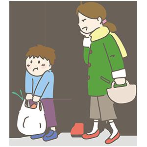 お母さんと息子のイラスト