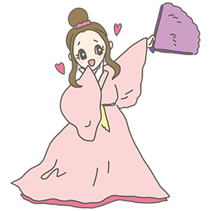 織り姫のイラスト
