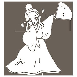 織り姫のぬりえ