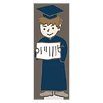 卒業式の男の子のイラスト