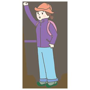 登山客のイラスト