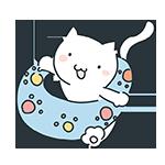海の日の浮き輪をしている猫のアイキャッチ