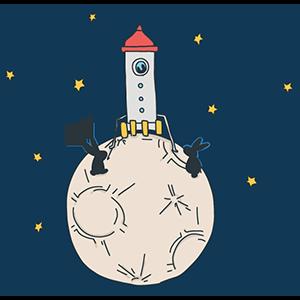 月ロケットの日のイラスト