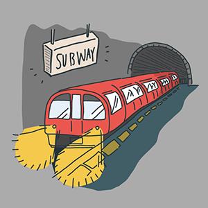 地下鉄記念日のイラスト