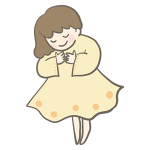 黄色い服を着た女性のイラスト