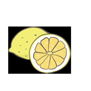 輪切りされたレモンのイラスト