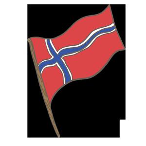 ノルウェー王国の国旗のイラスト