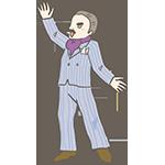 スーツを着て歌っている男性のアイキャッチ