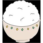 お茶碗に入った山盛りのお米のアイキャッチ
