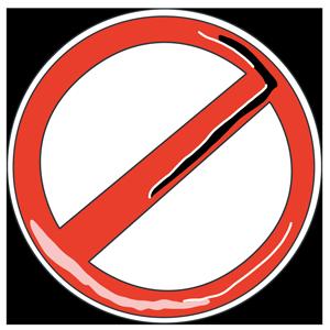 禁止のサインのイラスト