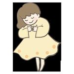 黄色い服を着た女性のアイキャッチ