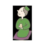 のほほんとお茶を飲んでいるアイキャッチ