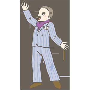 フリー素材スーツを着て歌っている男性のイラスト Season Stock Iroha