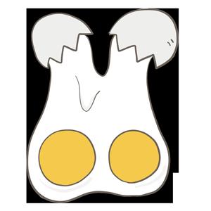 双子の卵のイラスト
